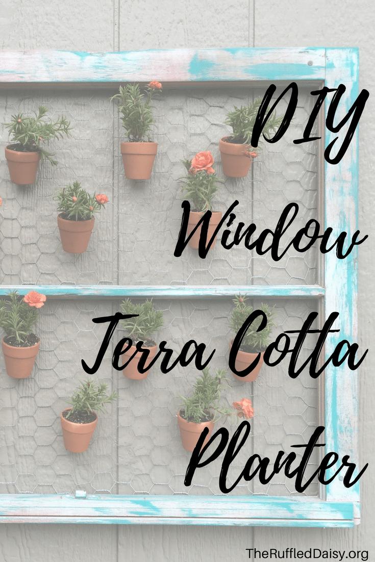 DIY Terra Cotta Window Planter PIN