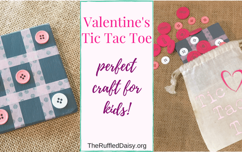 Tic tac toe craft for kids