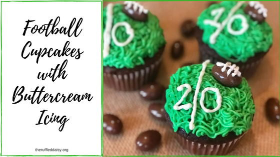 Football Cupcakes with Buttercream icing