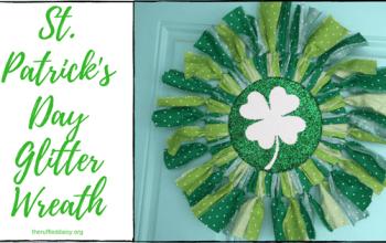 St. Patrick's Day Glitter Wreath