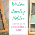 DIY Window Jewelry Holder