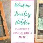 DIY Window Jewelry Holder