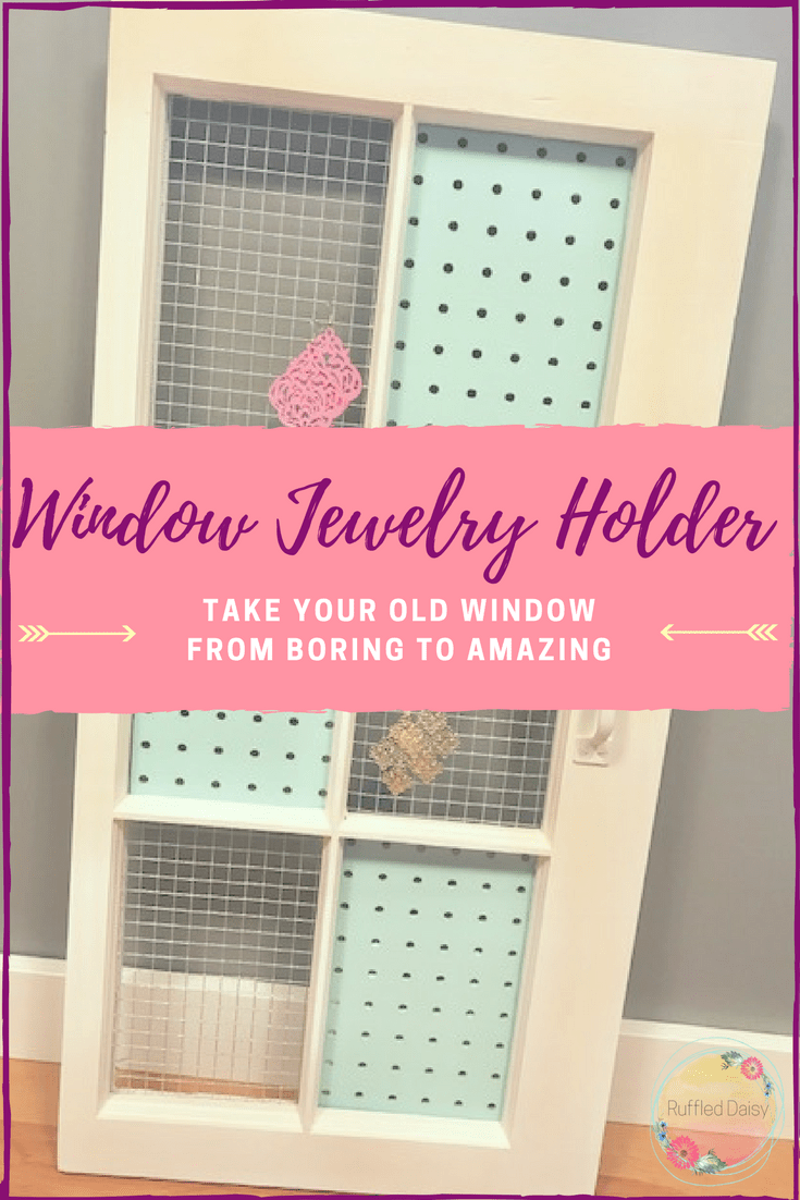 DIY Window Jewelry Holder Pinterest