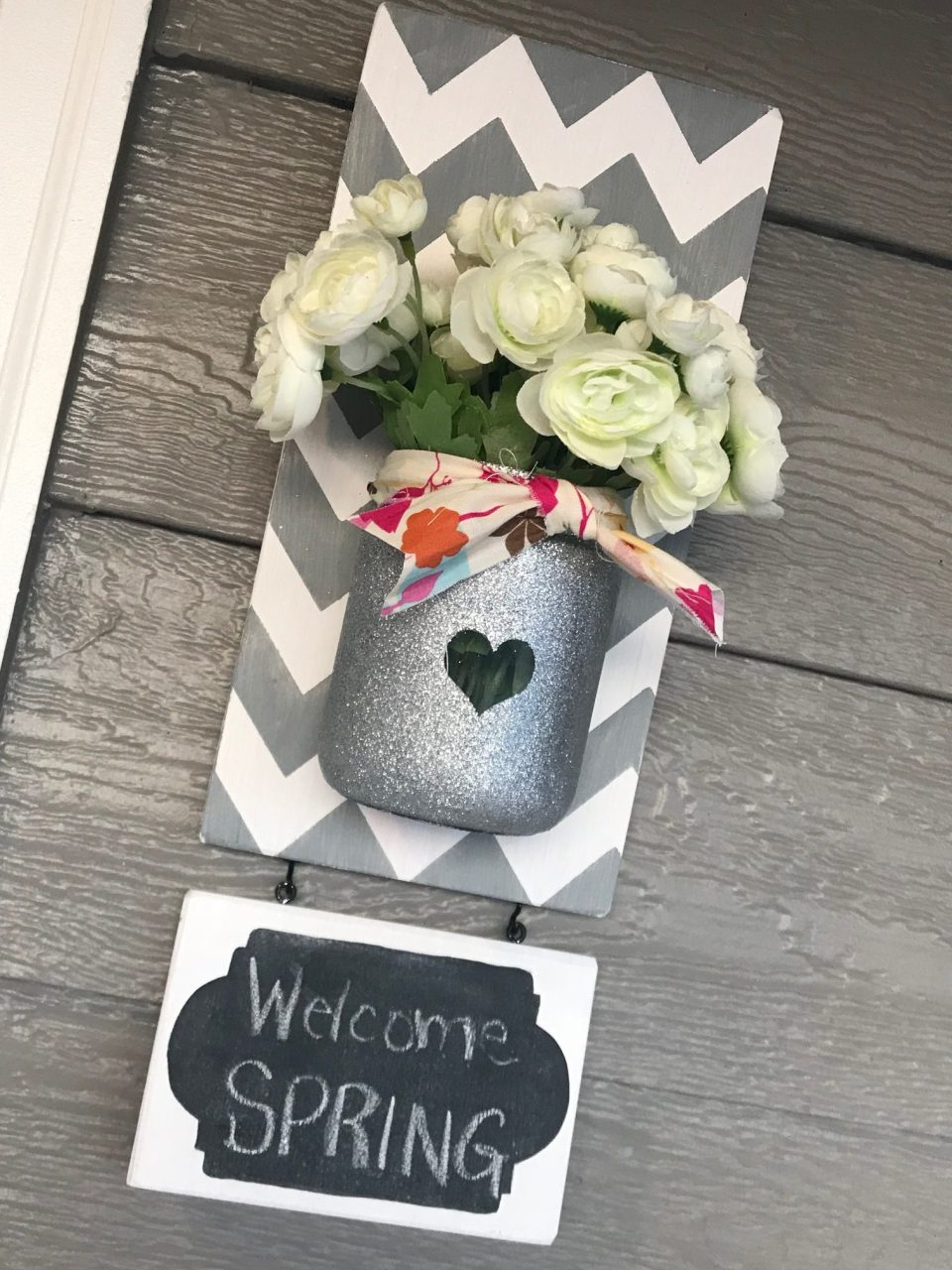Chevron Mason Jar with Chalkboard Final