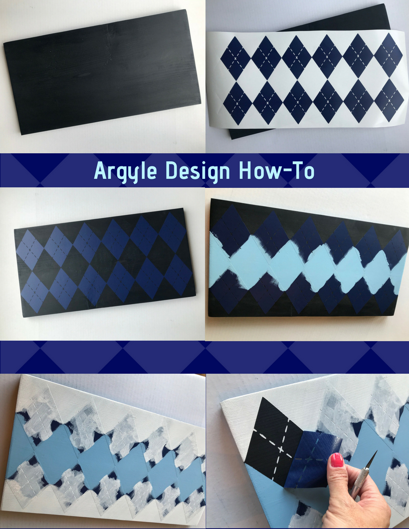 Easy Argyle Design DIY steps