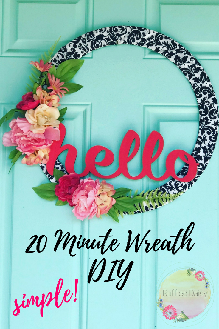 Quick and Easy HELLO Wreath PIN
