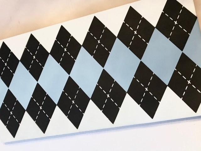 Easy Argyle Design DIY Close Up