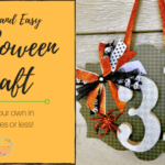 Quick and Easy Halloween Door Hanger