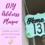 DIY Home Address Plaque