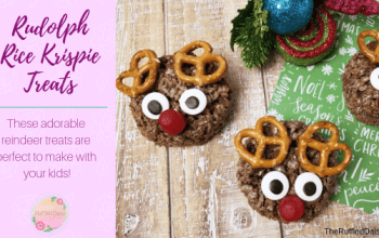 Rudolph Rice Krispie Treats DIY – 15 minutes!