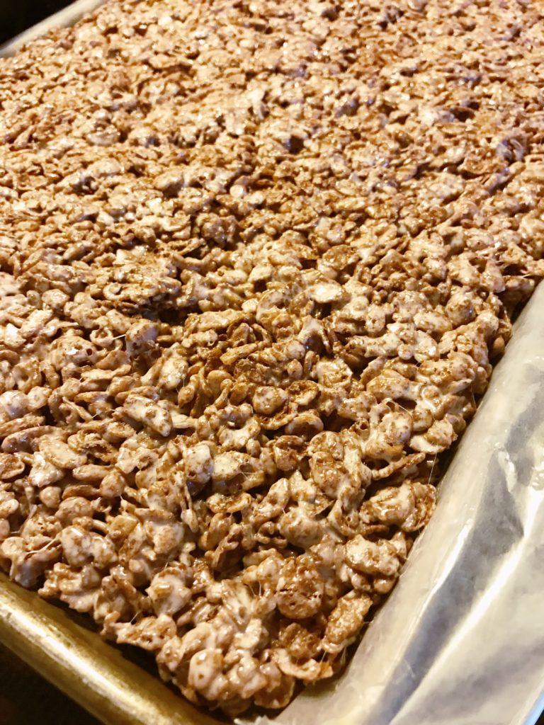 Rudolph Rice Krispie treats first step