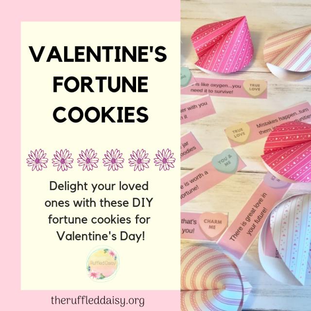 Valentine's Fortune Cookies DIY