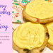 Blueberry Sugar Cookies with Lemon Icing