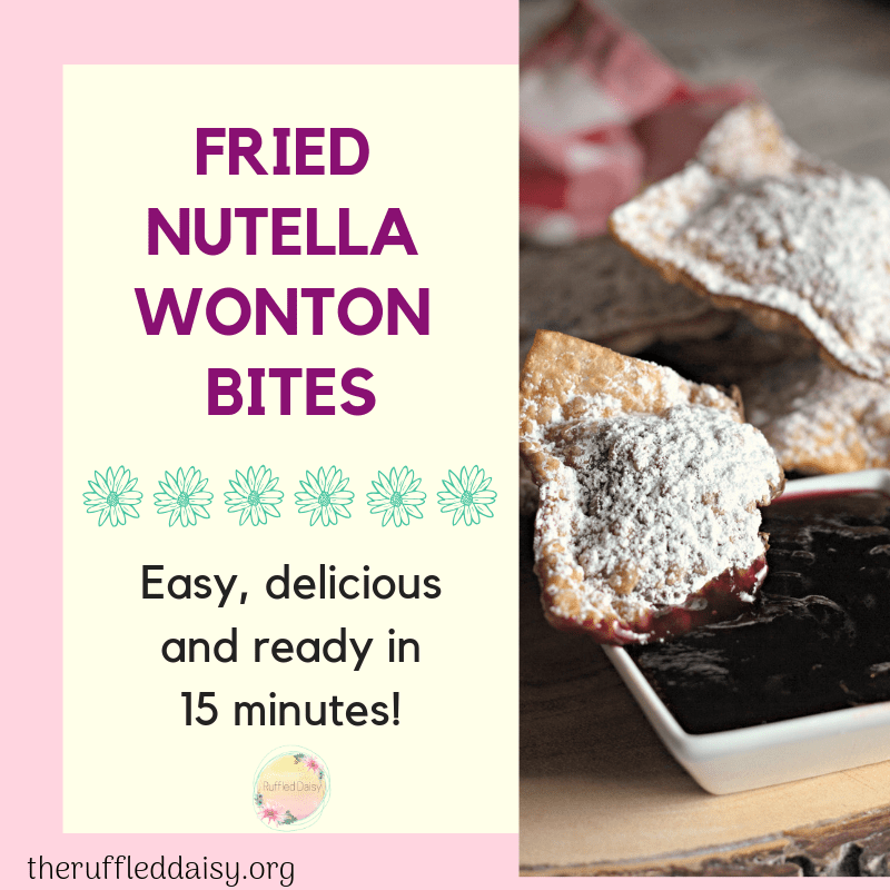 Fried Nutella Wonton