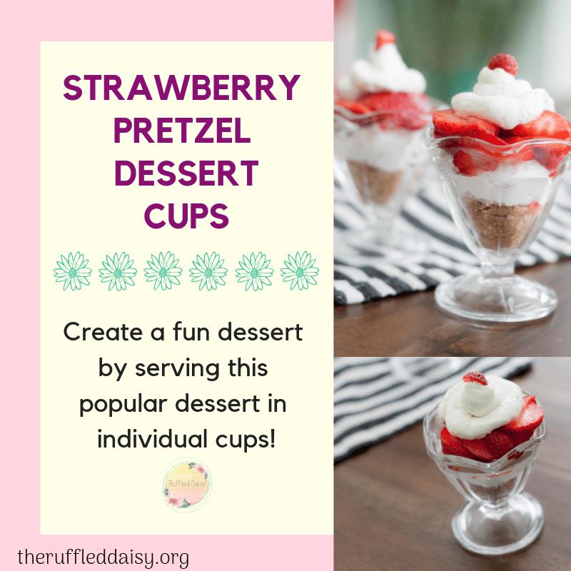 Strawberry Pretzel Dessert Cups FB