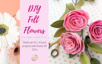 20 DIY Felt Flowers