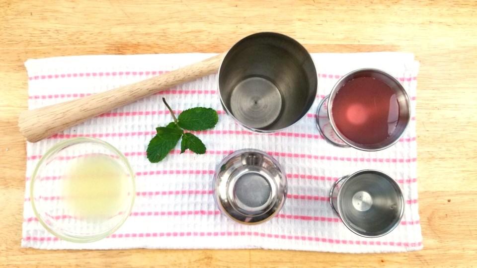 Bubblegum Mint Mojito Process
