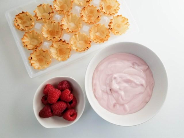 raspberry yogurt tarts