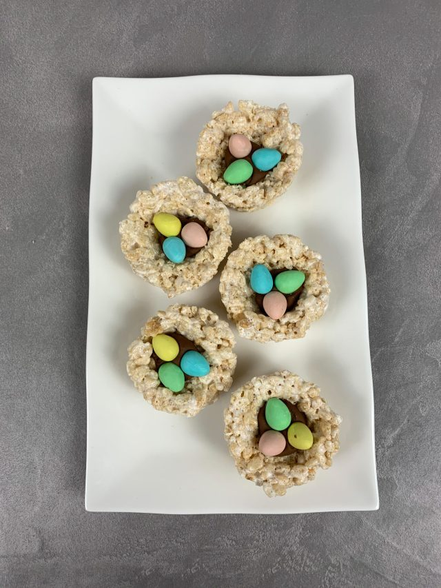 Rice Krispie Easter Egg Nests