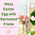 Moss Easter Egg with Mock Barnwood Frame Easy DIY