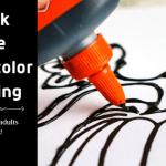 Black Glue Watercolor Painting DIY