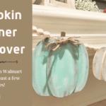Easy Pumpkin Banner Makeover DIY