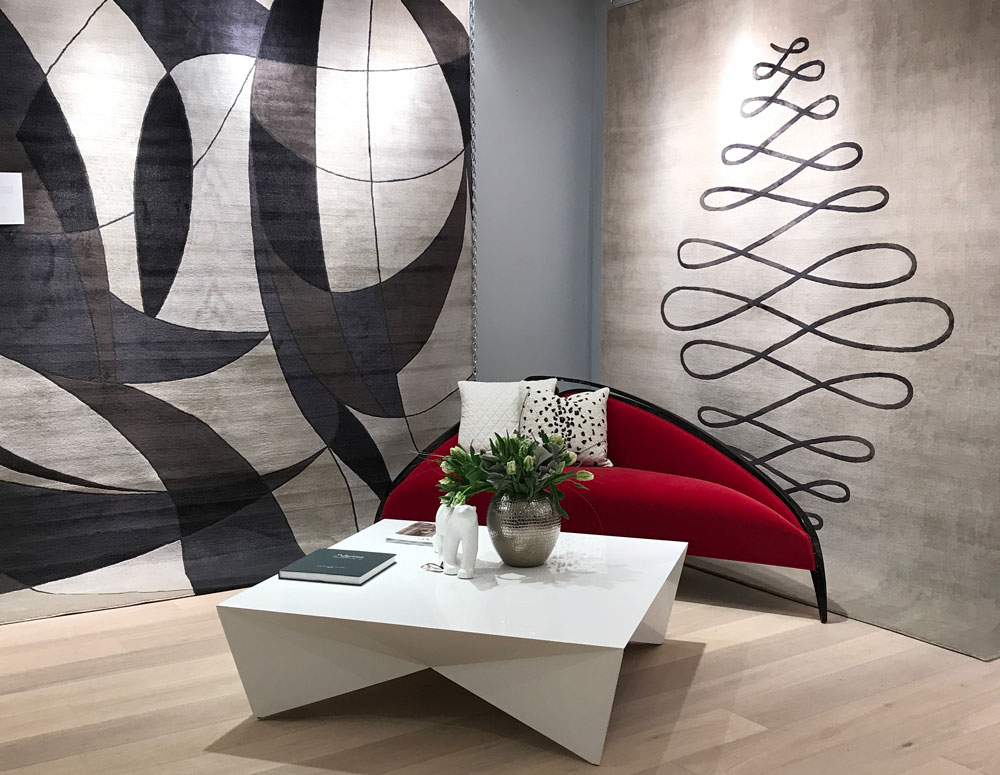 Christopher Guy rug collection display at Nourison showroom