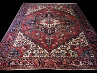 1460-3 a Large Authentic Persian Heriz   Rug Gallery