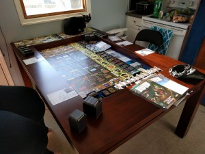 The ultimate test of a playing surface: Can it fit Arkham Horror?