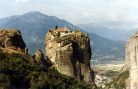 Monastery of the Holy Trinity, Meteora, Greece, a 14th century monastery on the cliff tops.