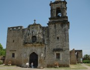 Mission San Jose in San Antonio, Texas, where the building was built in 1782.