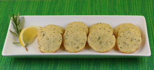 Lemon Rosemary Cocktail Wafers