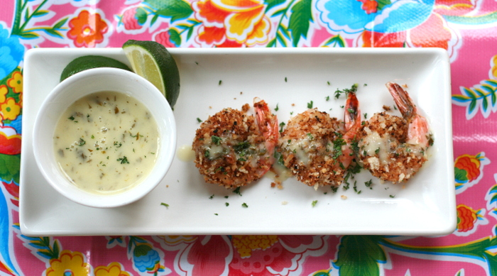 Baked Coconut Shrimp with Tequila Lime Butter Sauce