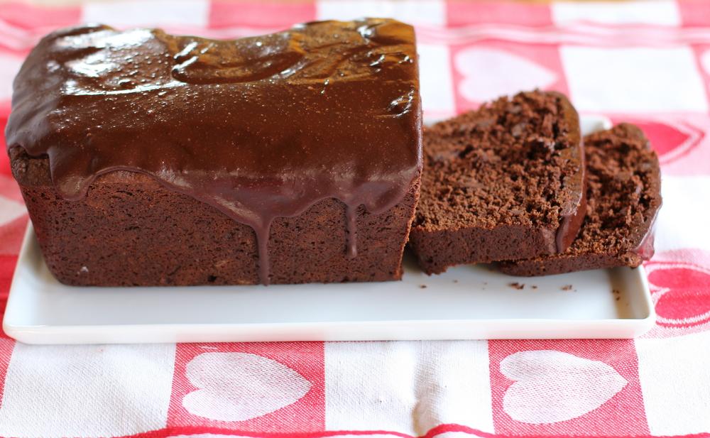 Chocolate Buttermilk Pound Cake with Buttermilk Ganache
