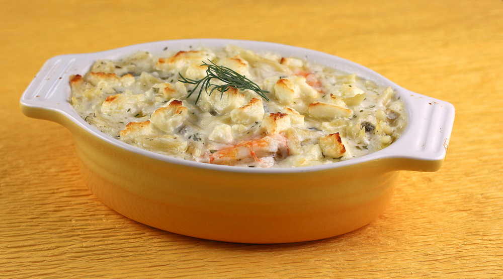 Greek Shrimp and Orzo Bake with Lemon and Dill