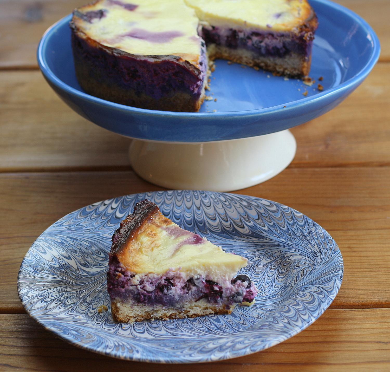 Blueberry Sour Cream Torte