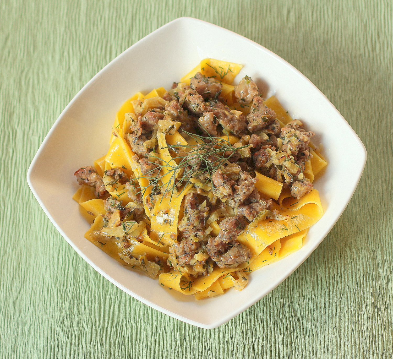 Fennel and Italian Sausage Pappardelle