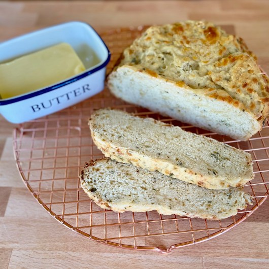 Seriously Simple Slow Cooker Cheese and Herb Bread