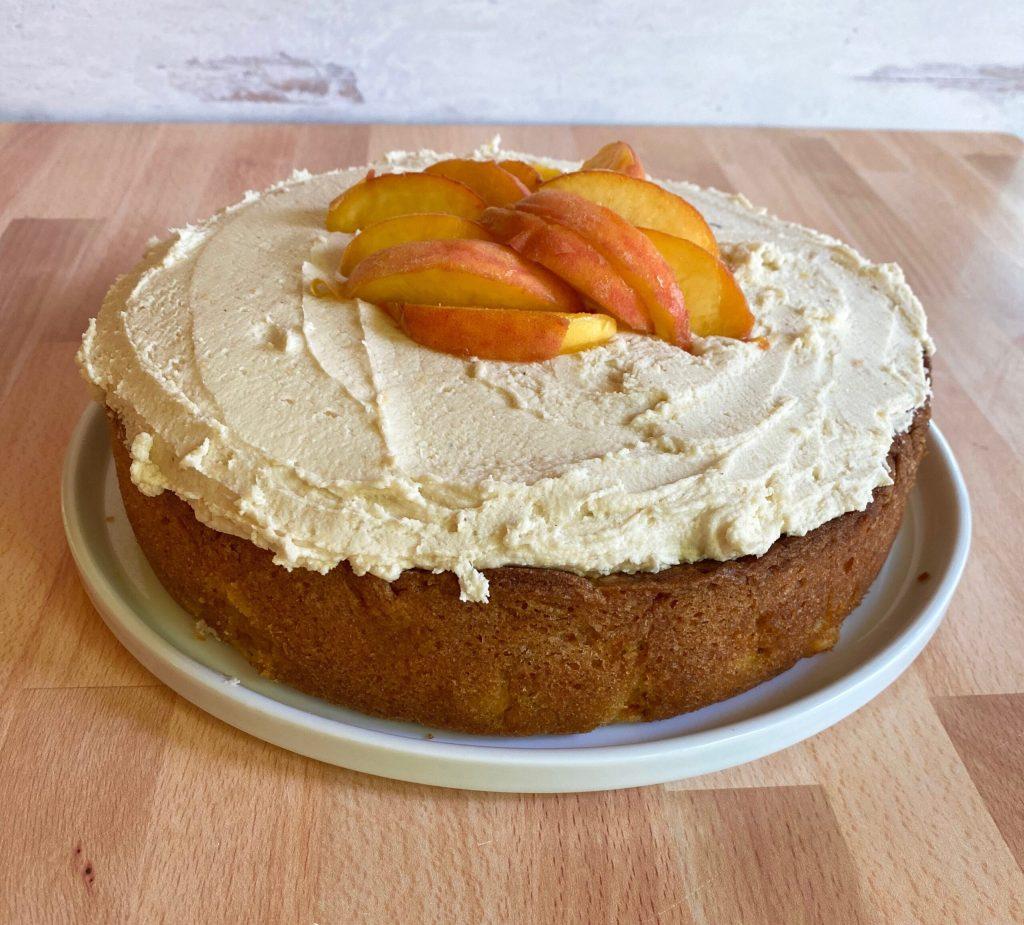 Peach Brown Butter Cake