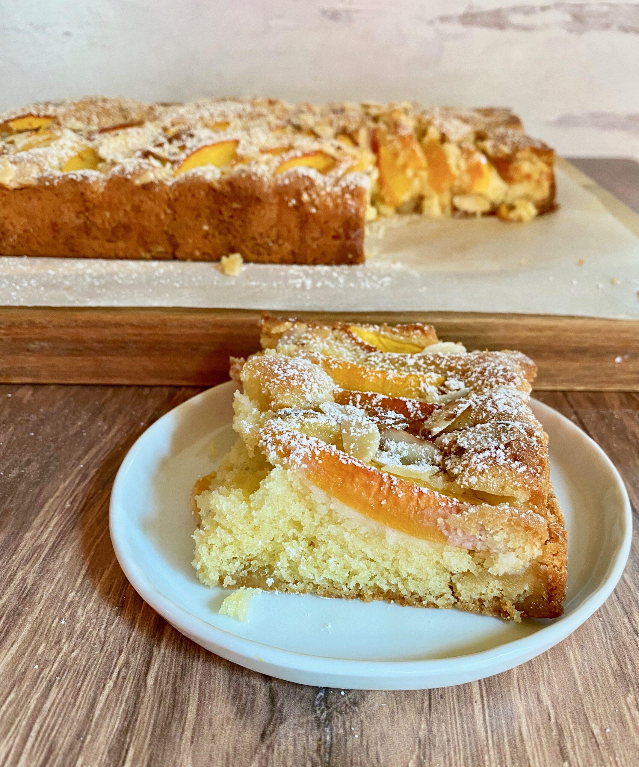 Nectarine Marzipan Cake