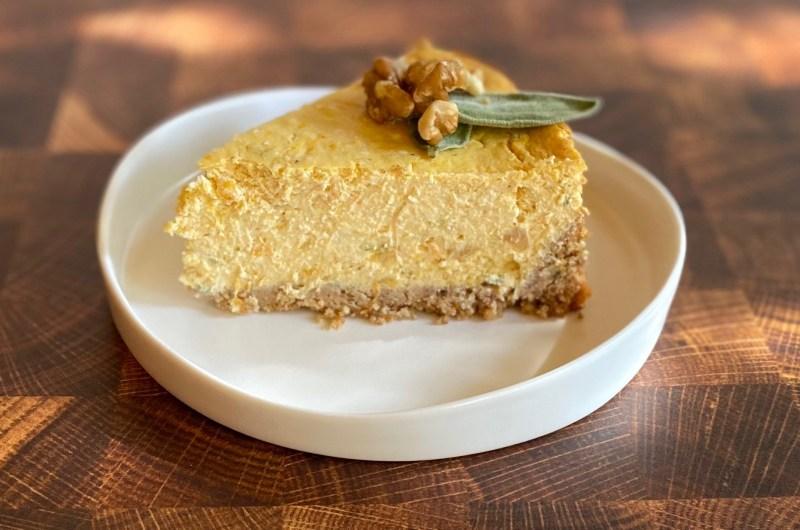 Savory Butternut and Sage Cheesecake