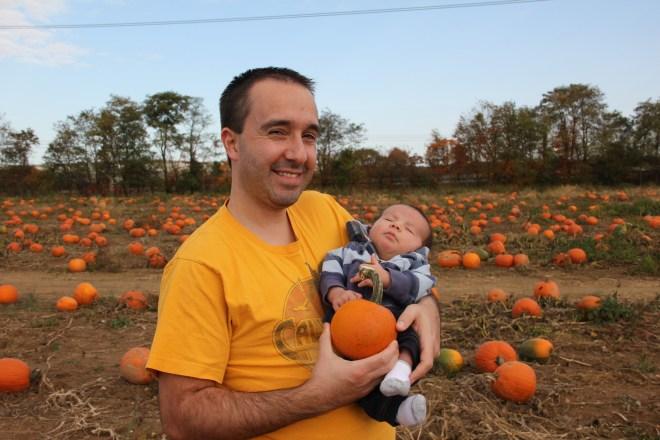 Fat Daddy in a Pumpkin Patch