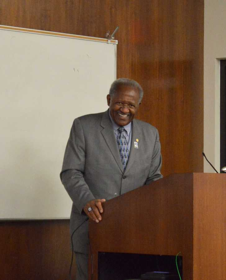 CSUB President Horace Mitchell directed the yearly Campus Forum on May 29 in the BDC building.
