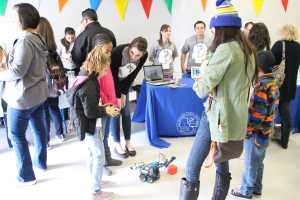 The CSUB Kern Rural Teachers Residency provided a Circuits table where they allowed the audience to interact with their circuit-related inventions at the Maker Faire on Saturday, January 30th. By Alejandra Flores/ The Runner