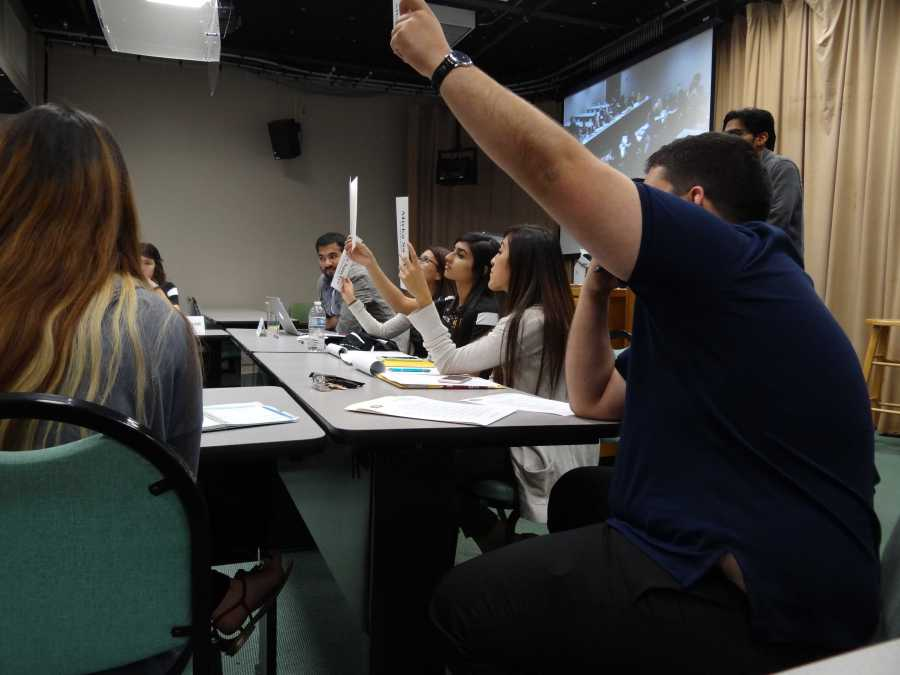 ASI voted on the proposal of a $51 annual parking fee increase at the meeting on Friday. Photo by Chris Mateo/The Runner