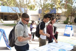 CSUB students give their input on some of the features for the Edible Garden Thurs., Oct. 13. The garden is in the design phase. Photo by Esteban Ramirez/The Runner