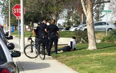 UPD detains 50-year-old man on campus Tuesday, March 7, 2017.  Photo by Peter Castillo/The Runner