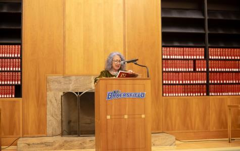 Vibrant poet, Dixie Salazar shares words with CSUB campus