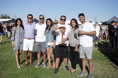 Photo courtesy of Chase Campbell/American General Media  In their fourth consecutive win, Countryside Market members pose with their first-place trophy on April 20 during the Macaroni and Cheese Festival at CSU Bakersfield.