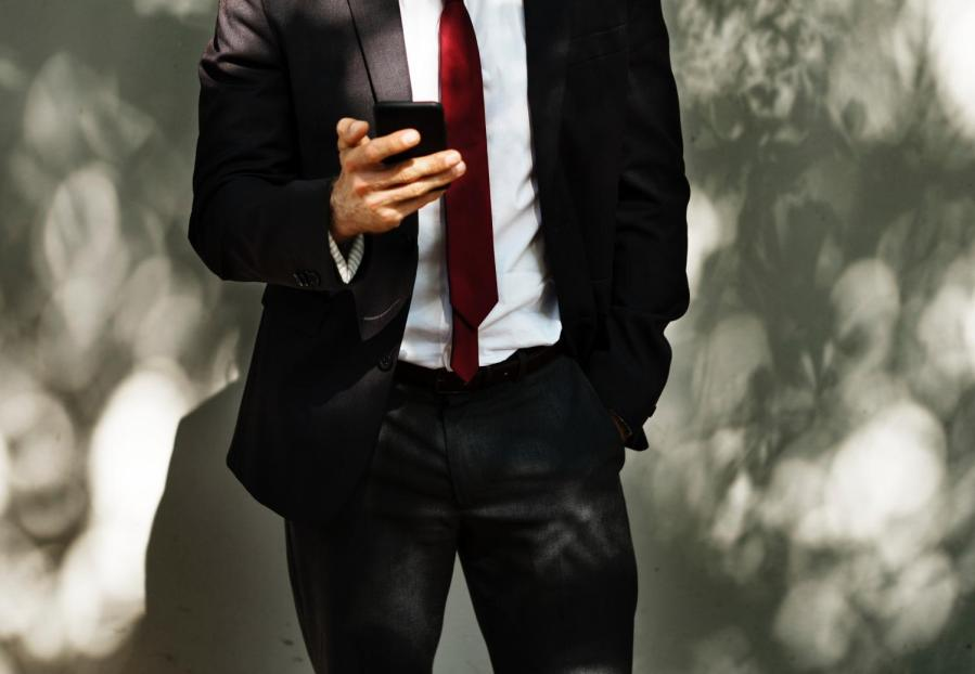 Stock photo of a suit.